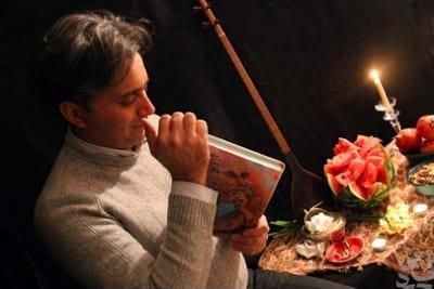 مجید اخشابی و حافظ خوانی در شب یلدا