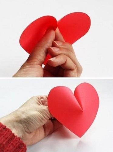 مراحل آموزش کاردستی قلب