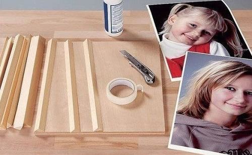 وسایل لازم برای ساخت قاب عکس سه بعدی