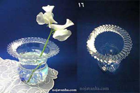 ساخت گلدان از بطری نوشابه