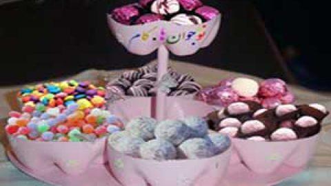 کاردستی شیرینی خوری بابطری نوشابه