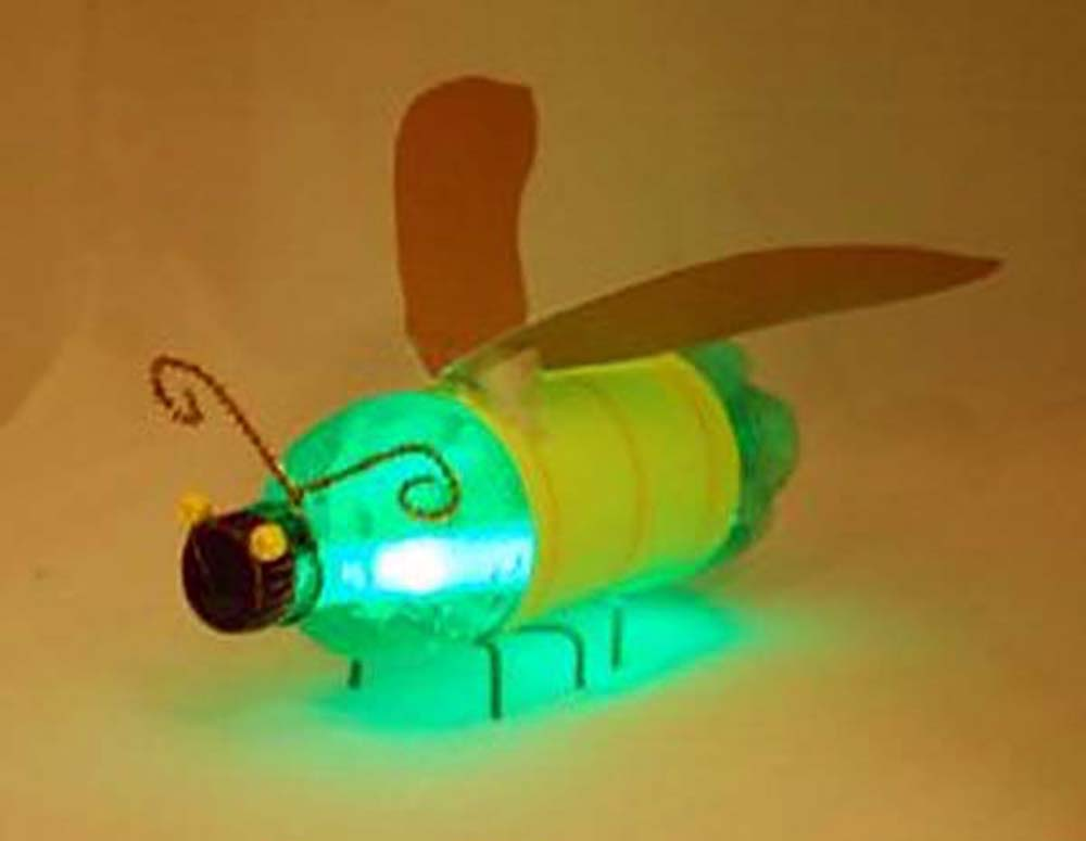 کاردستی زنبورک شب تاب با بطری نوشابه