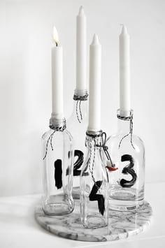 کاردستی جا شمعی با بطری