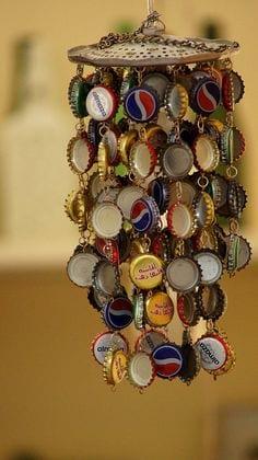 آویز زیبا با درب بطری نوشابه
