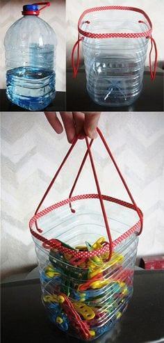 ساخت سطل دسته دار با بطری بزرگ