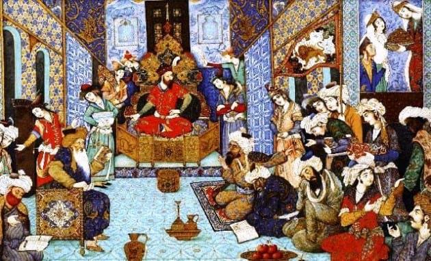 تصویری از داستان گنج قناعت از کتاب تاریخ بیهقی