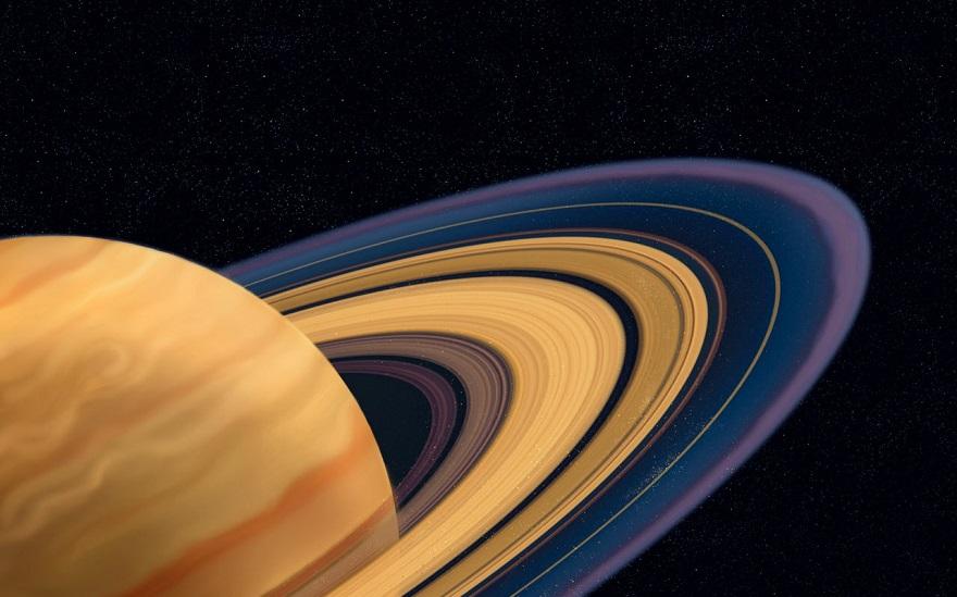 تصویری از سیاره زحل زیبا سیاره ای با حلقه های زیبا در اطرافش
