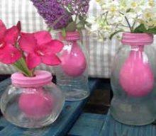 کاردستی گلدان همیشه بهار