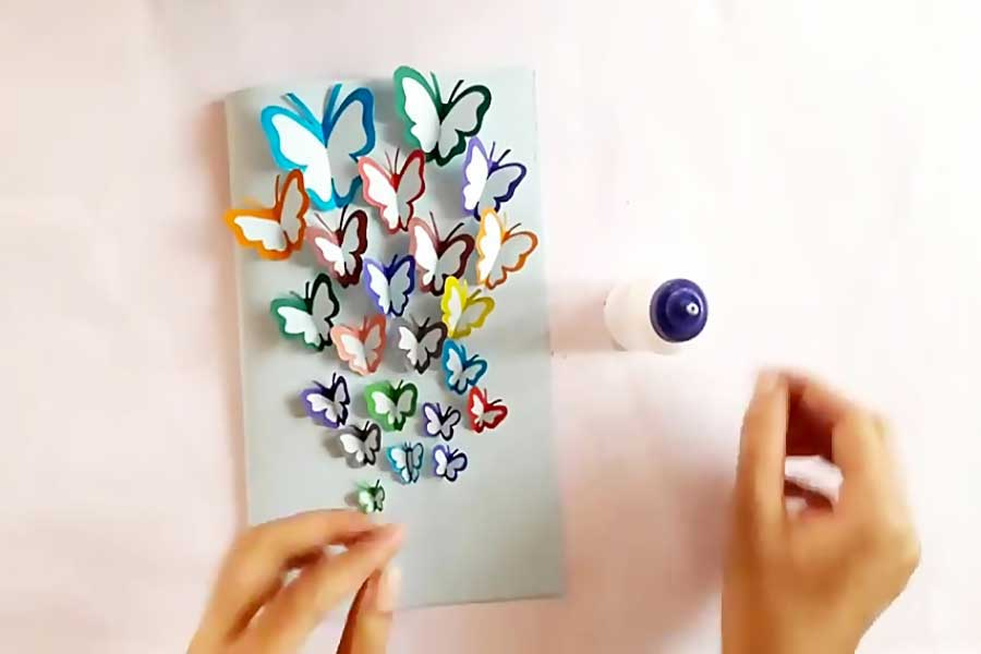 کاردستی کارت پستال سه بعدی